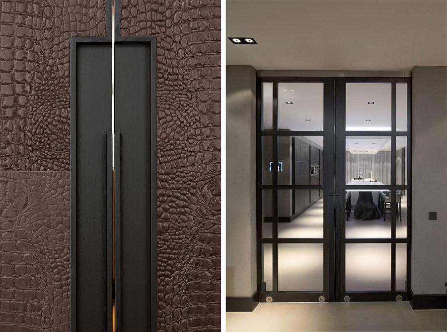 Large glass doors for kitchen and dining room