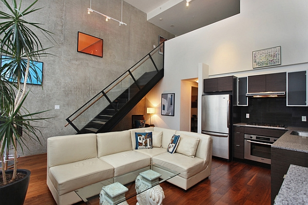 Small living room idea for an industrial loft