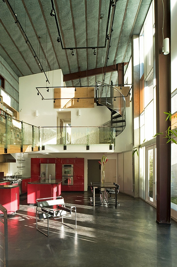 Smart house uses a distinct metal frame and skin