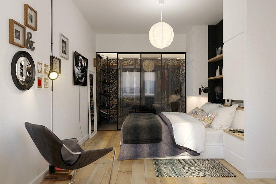 Trendy small bedroom design idea