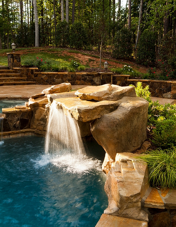 Waterfall features need not always be expansive