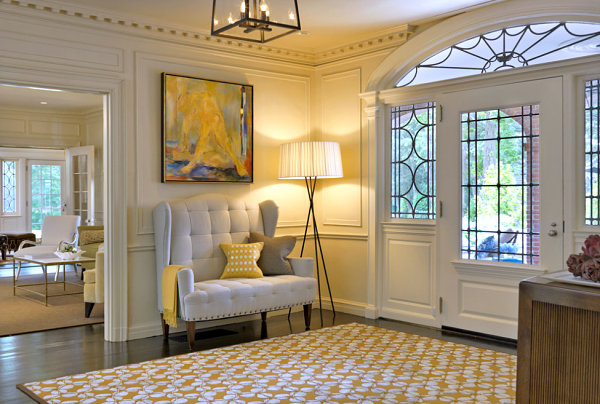 Comfy seating in a large entryway
