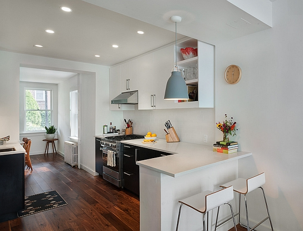 Modern pendant light idea for kitchen and dining space