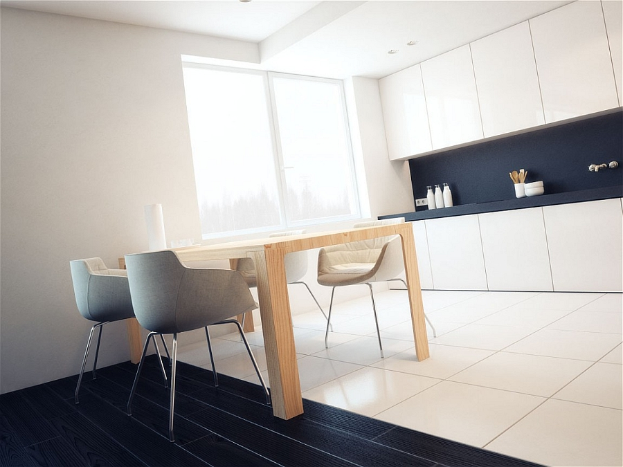 Small dining table idea for a minimal apartment
