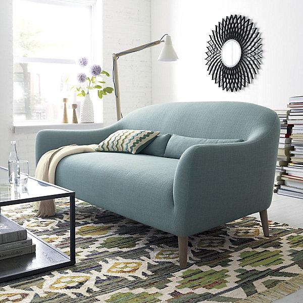 Unique curved sofa