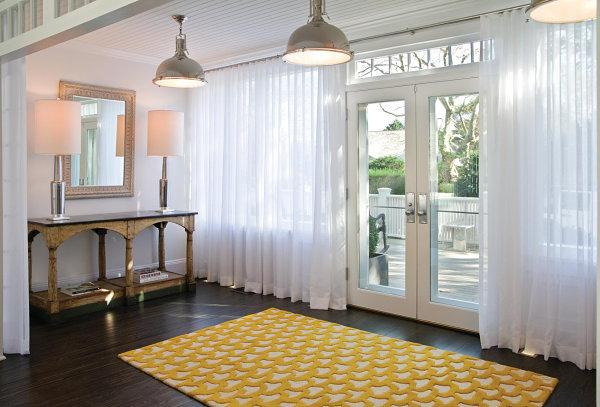 Vibrant entryway rug