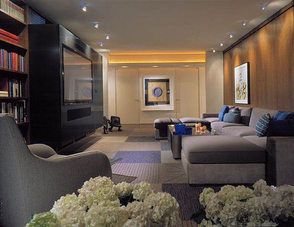 contemporary rug in the living room