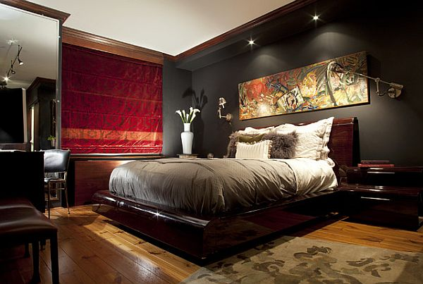 wall tapestry in red