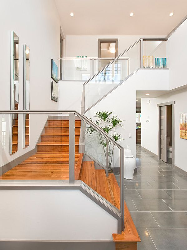 wooden like staircase tiles