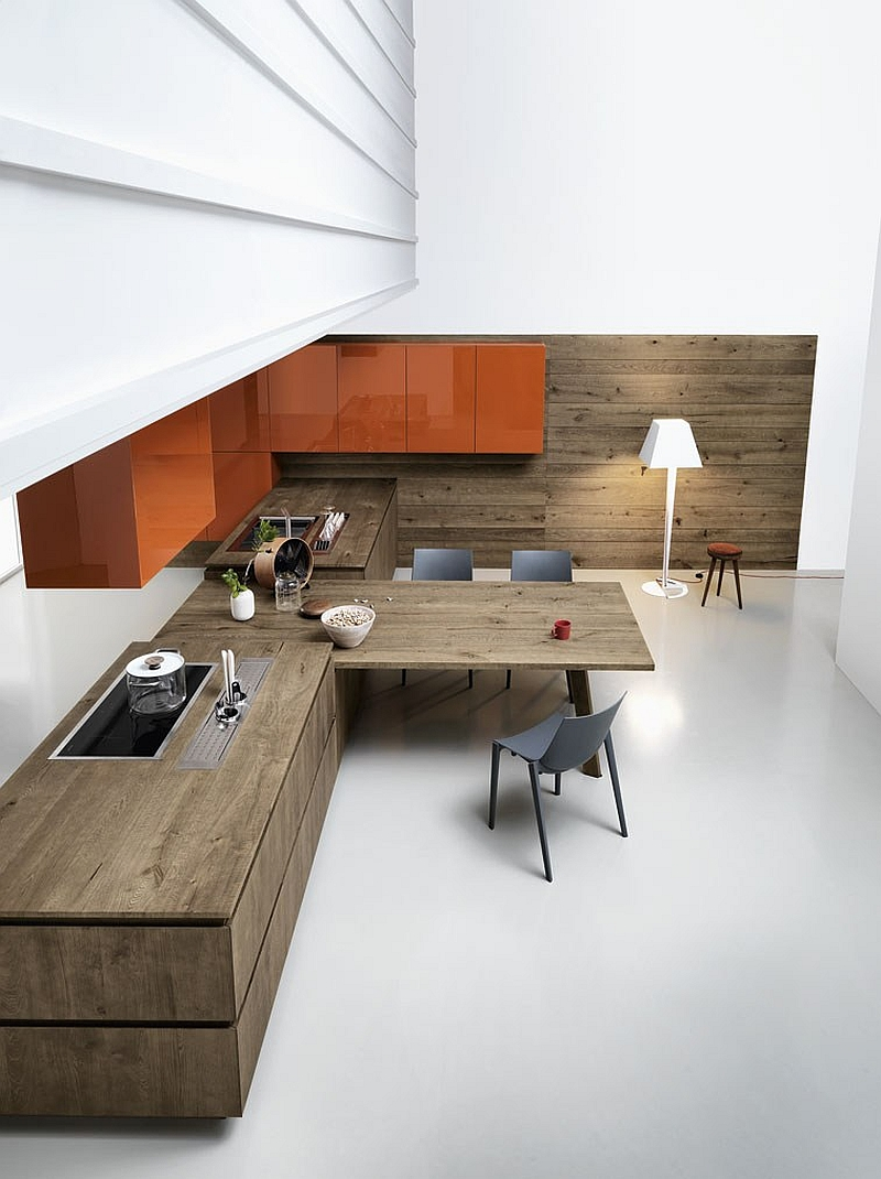 Beautiful kitchen workstation and dining space