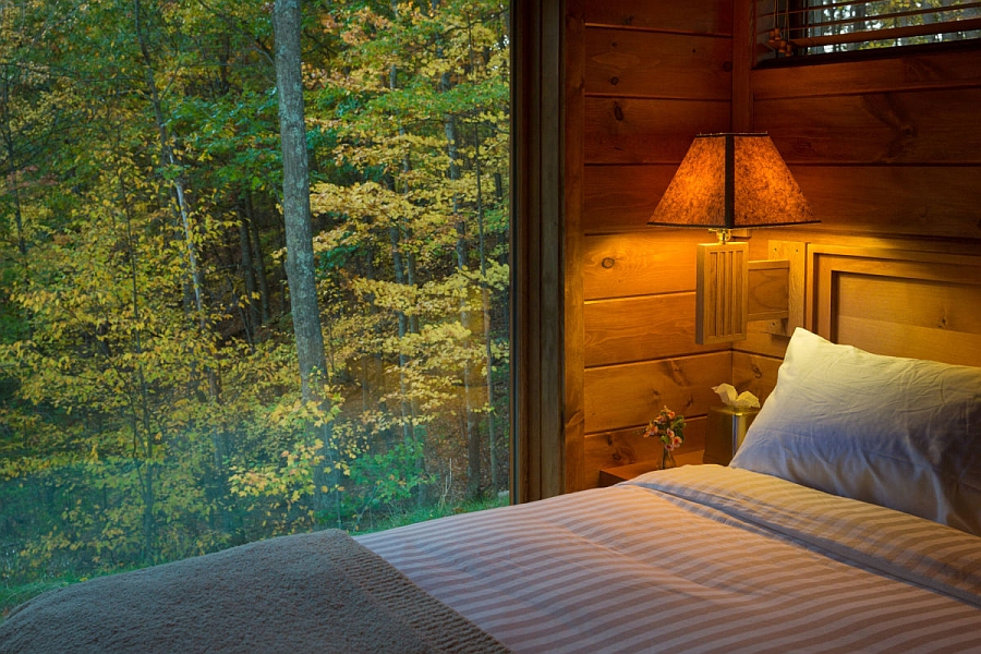 Beautiful scenery outside the bedroom window