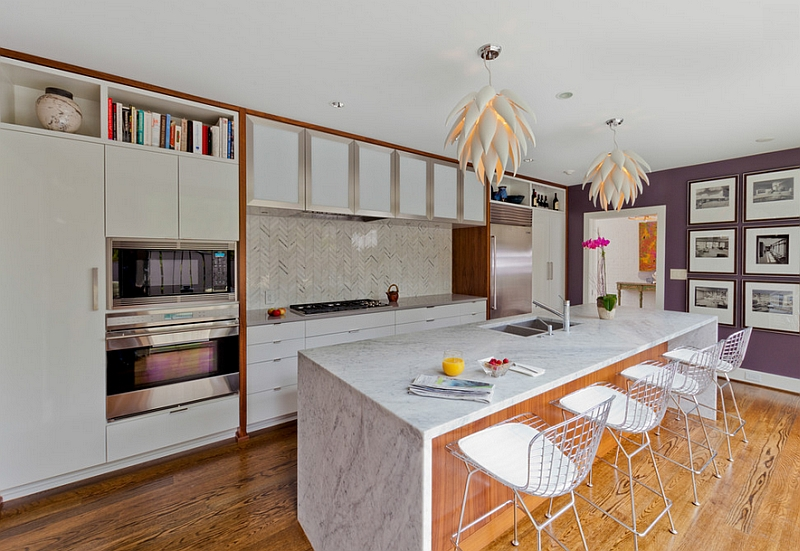 Chevron pattern tile for the modern kitchen