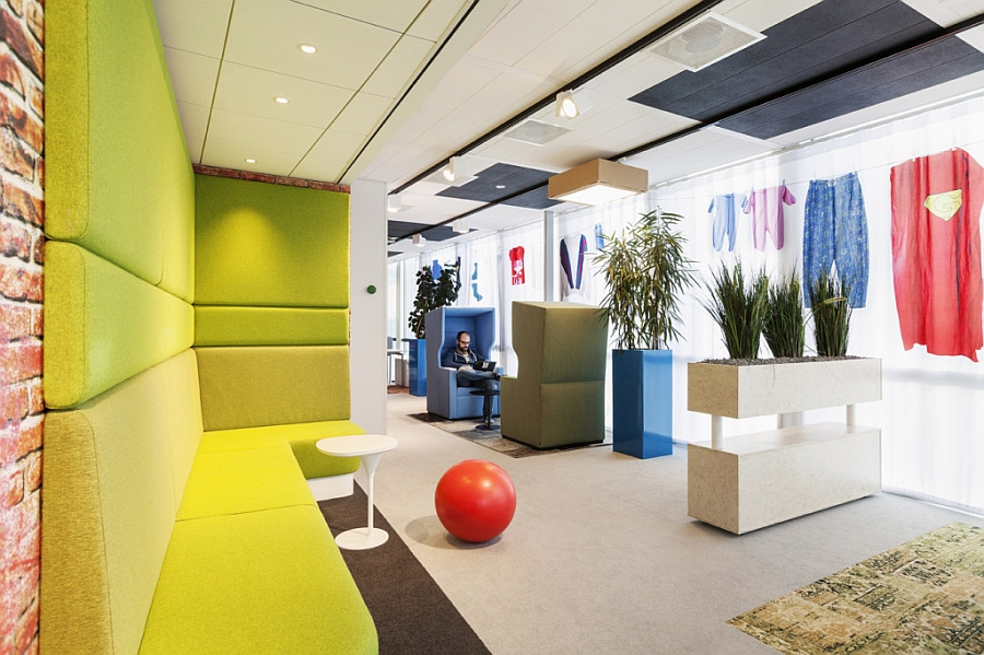 Comfy and colorful workplaces inside the Google Amsterdam Office