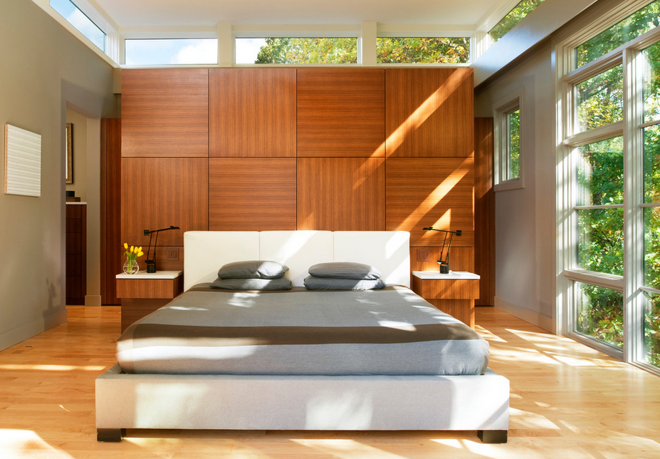 Elegant bedroom decor featuring a dominant headboard