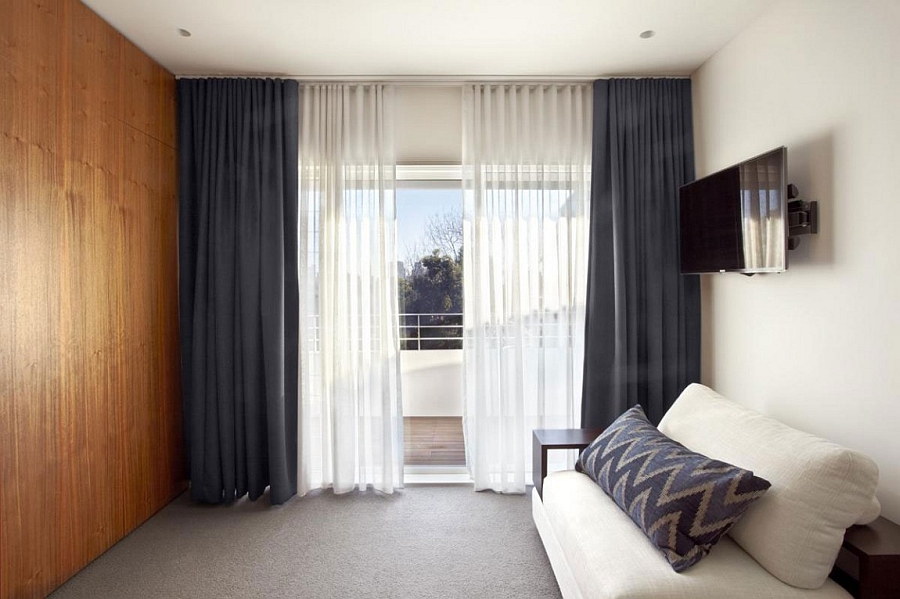Luxurious bedroom connected with the balcony