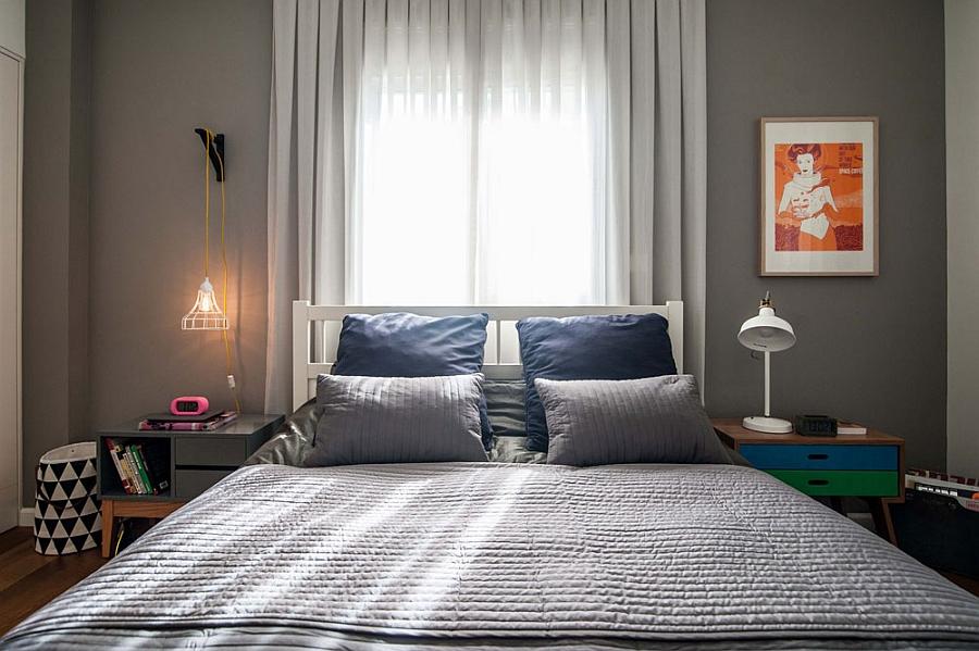 Master bedroom in stoic grey