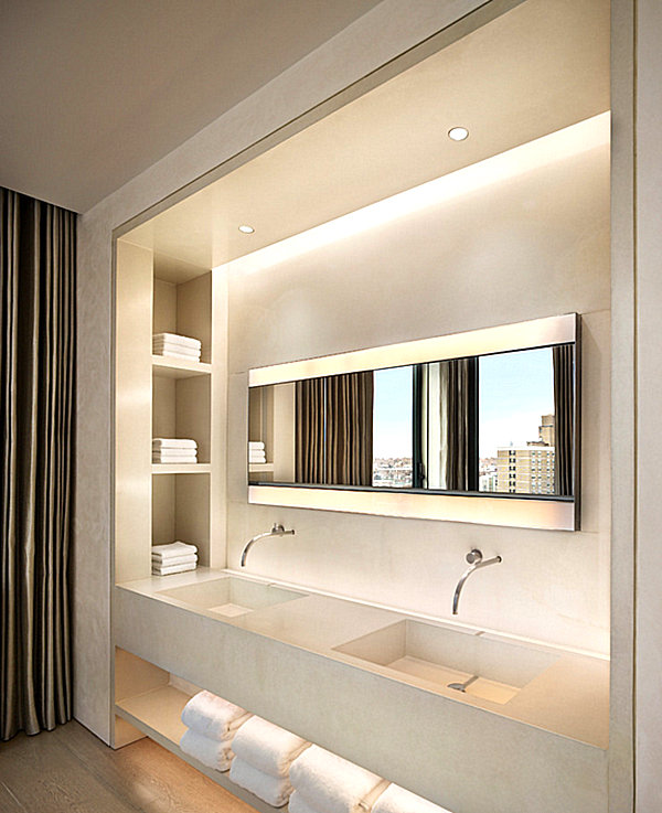 Minimal details create a feeling of spaciousness