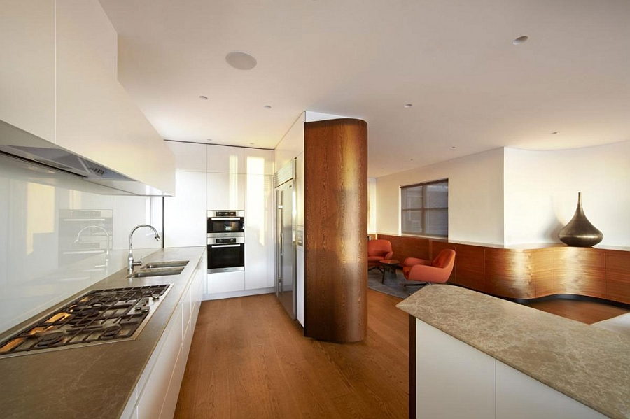 Modern kitchen with ample room