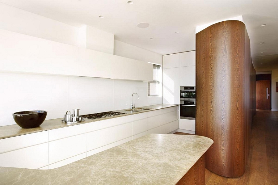 Sleek kitchen workstation saves up on space