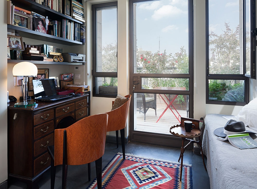 Small guest room with its own individual balcony and sweeping view of Jerusalem