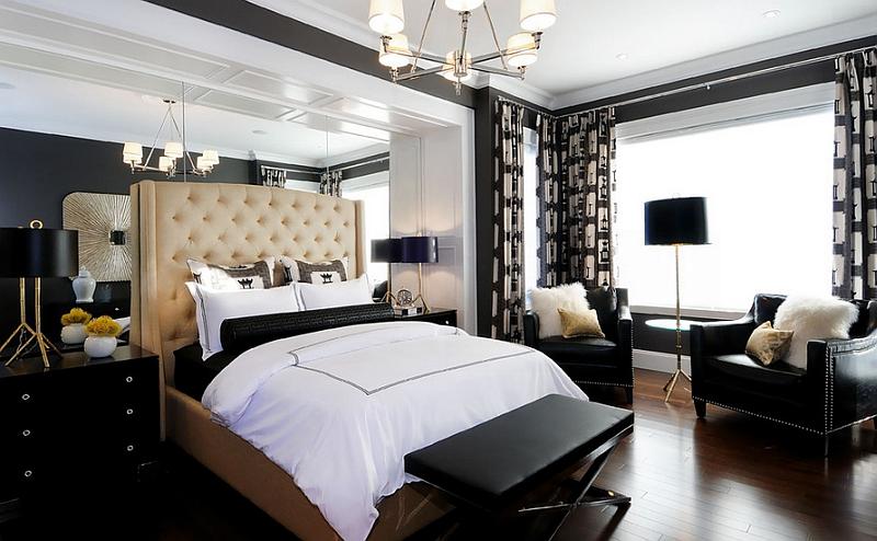 Use of multiple lighting fixtures in the bedroom