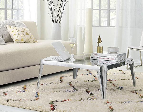 Chic modern metal coffee table