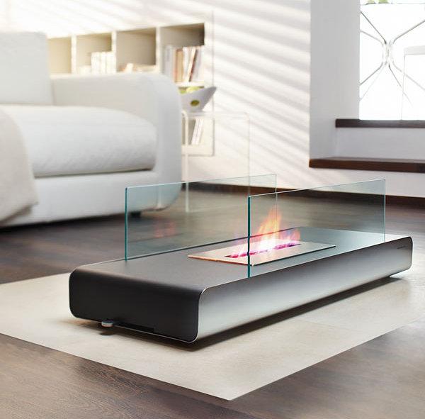 Coffee table fireplace