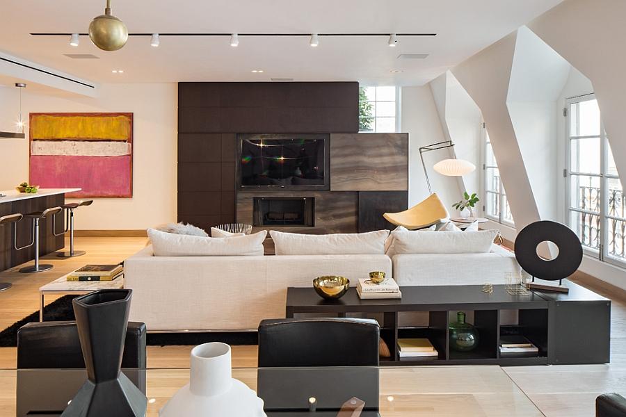 Living area with gorgeous entertainment unit
