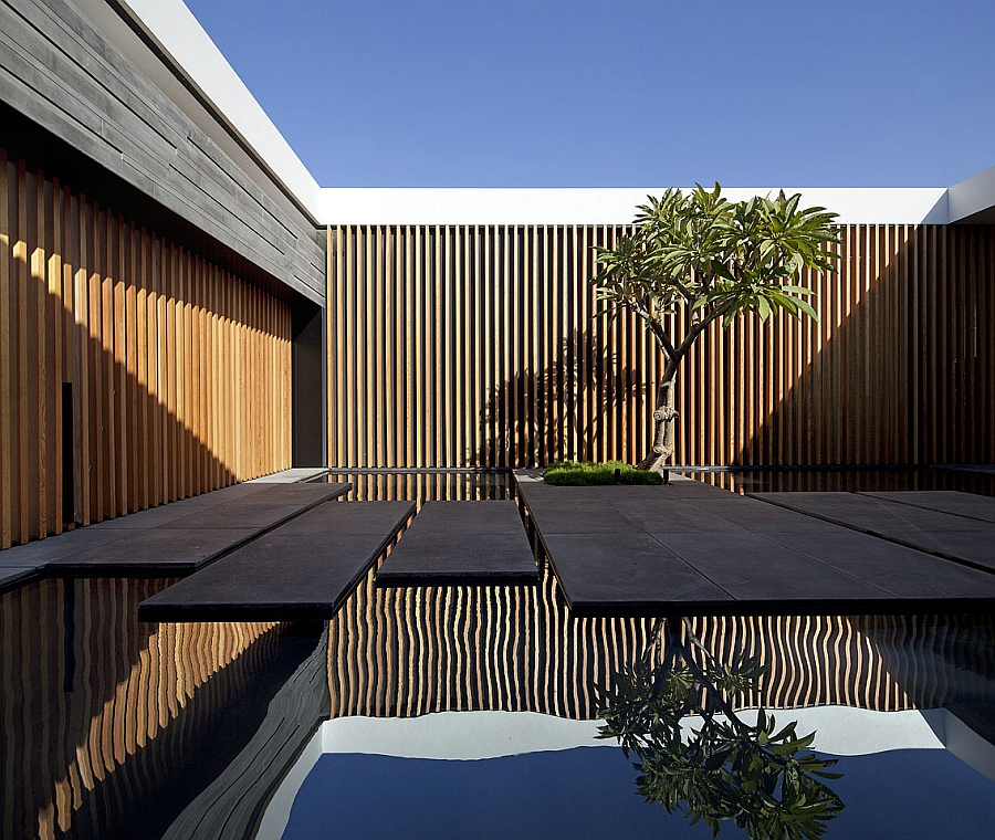 Trees enliven and add mystic aura to indoor courtyards