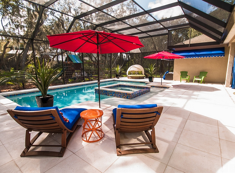 A relaxed and fun pool space