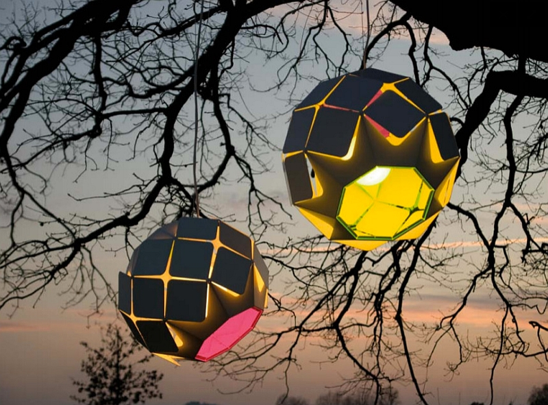 Beautiful and playful Clover Indoor-Outdoor Lamp for the summer lounge
