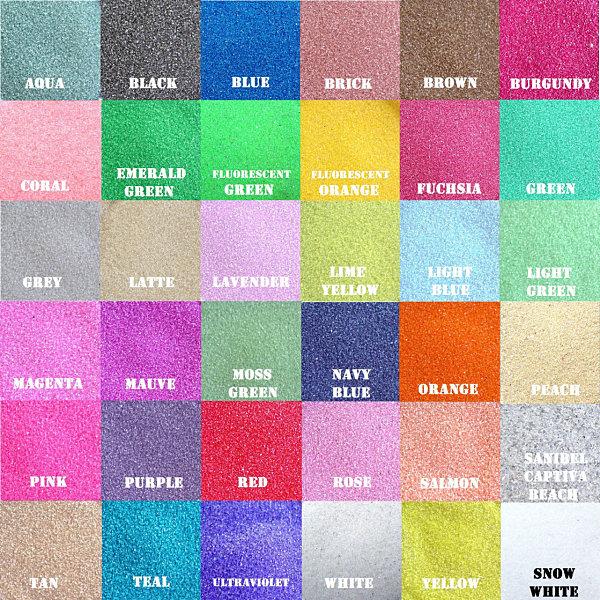 Terrarium sand in vibrant hues