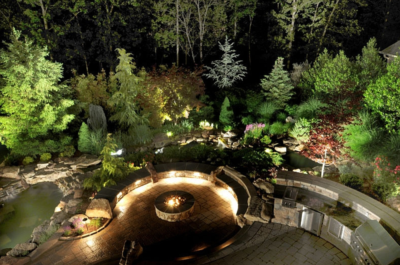 Using colorful LED lighting to create a snazzy outdoor space