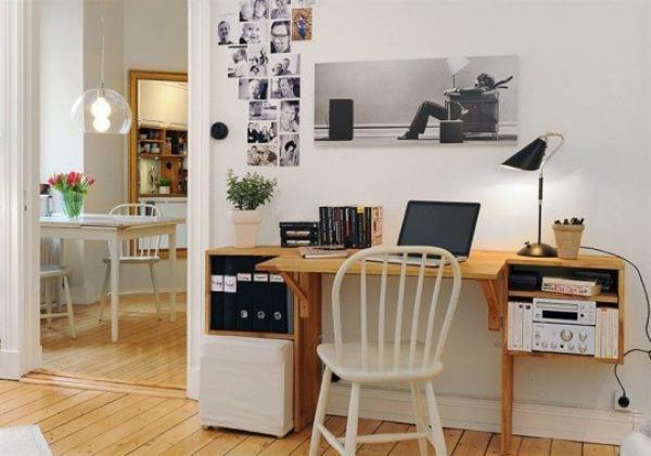 fold down wooden desk