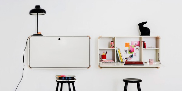 white folding desk