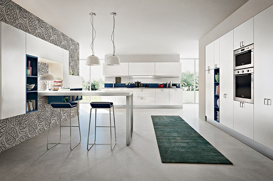 Cool kitchen compositions also includes smart dining nooks