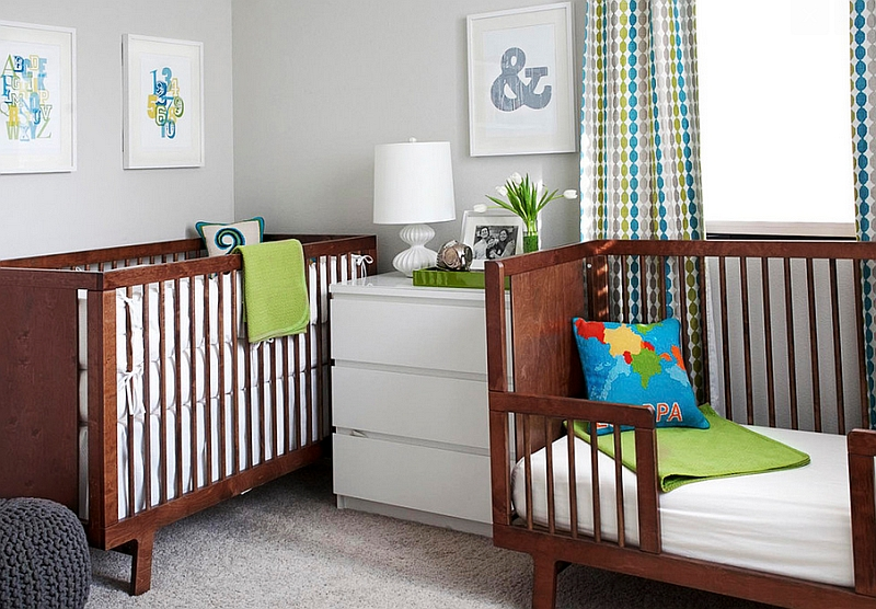 Exquisite nursery offers the perfect backdrop for the room to grow along with the kids