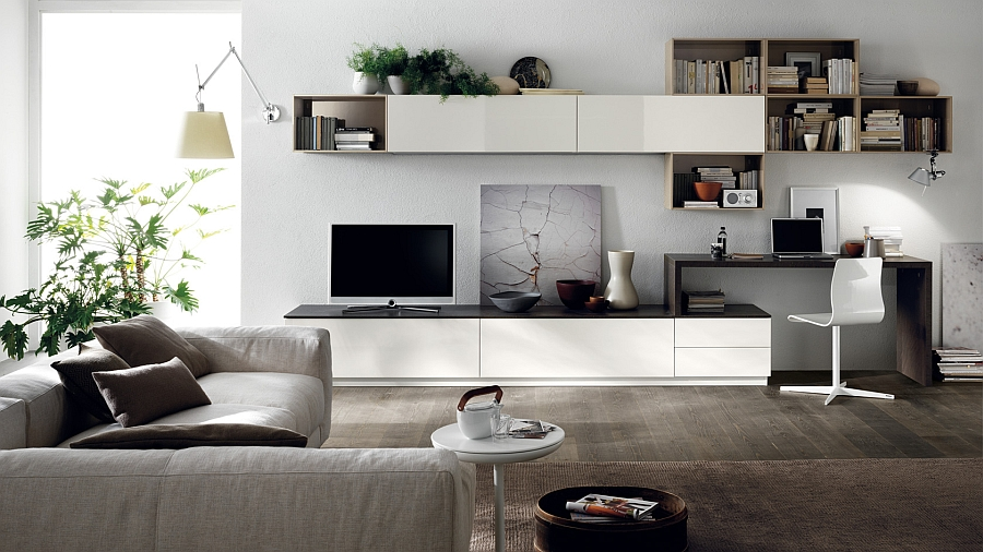 Gorgeous living room composition that saves up on space