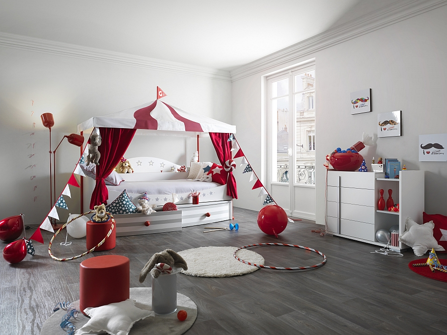 Piccadilly bed from Gautier brings the circus to your kids' room in style