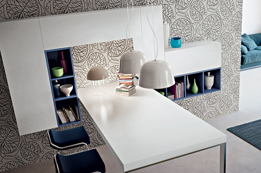 Small and smart dining table that dissapears when not needed