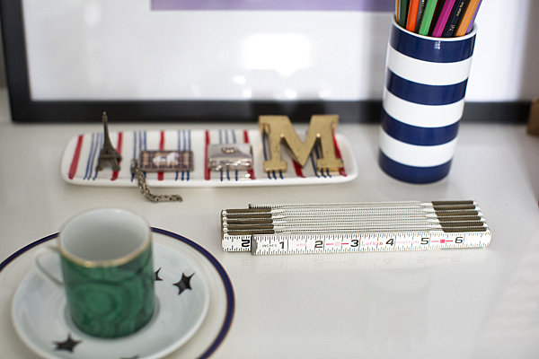 Stylish desk vignette