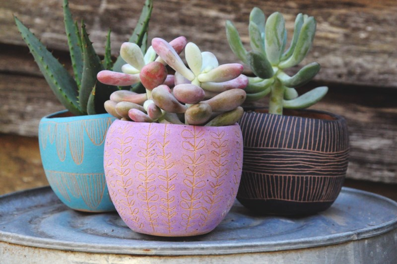 Assorment of table planters from Half Light Honey Studio