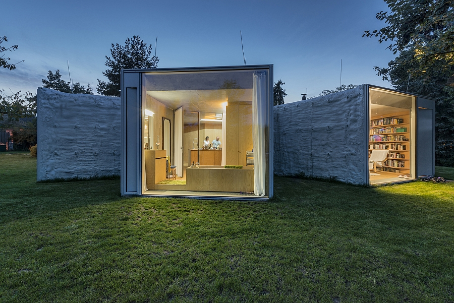 Intriguing design of the Chameleon House provides windows into the world outside!