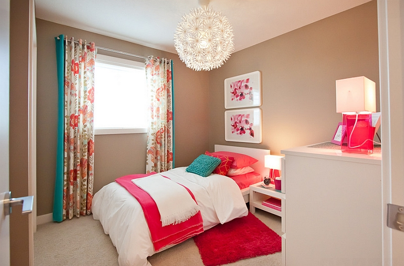 Pendant lights look lovely in small bedrooms with limited space