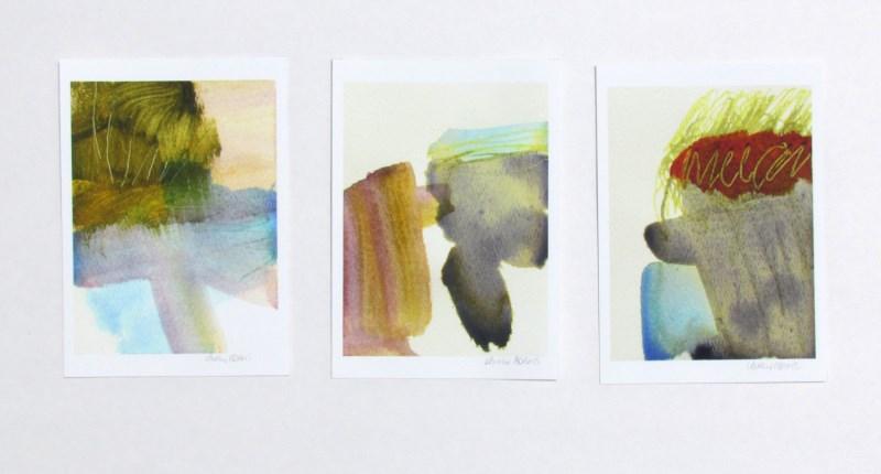 Set of 3 modern art prints by Lauren Adams