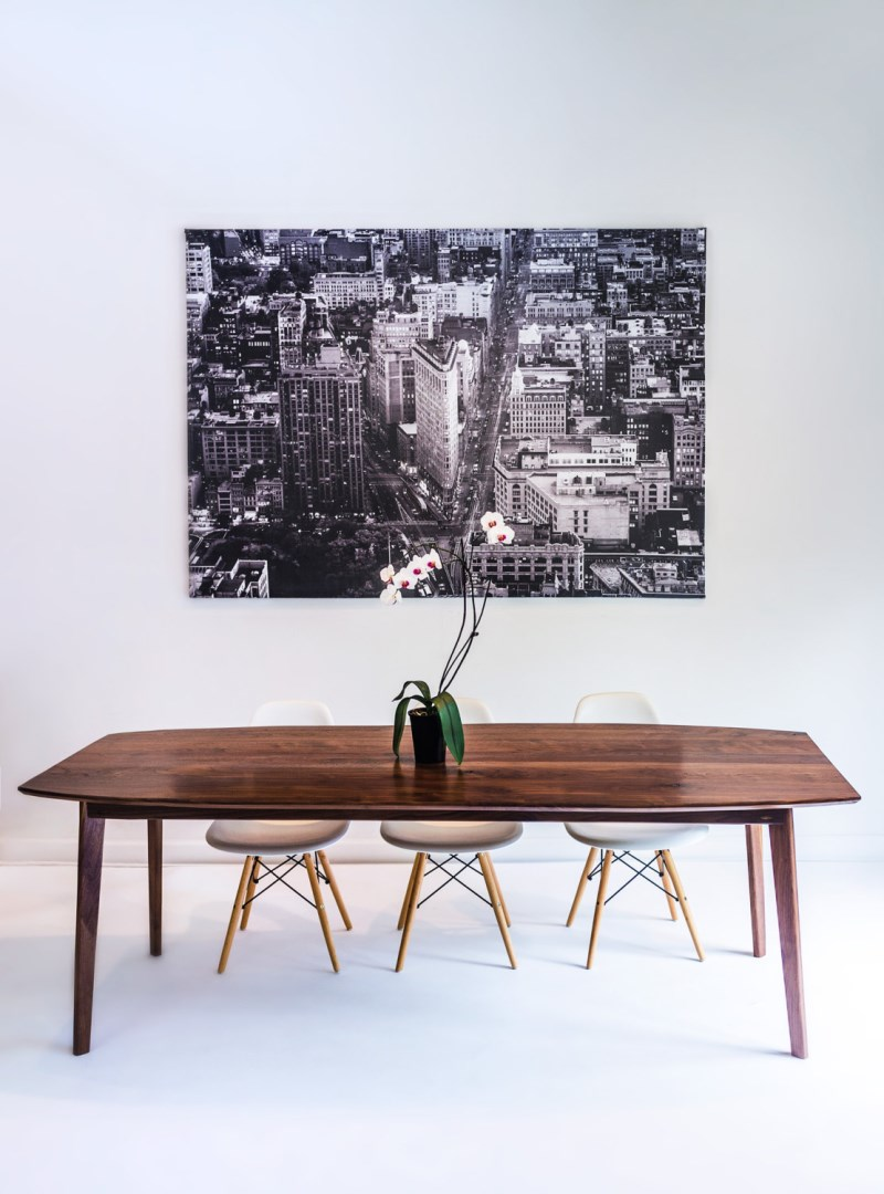 The Santa Monica black walnut table from Moderncre8ve