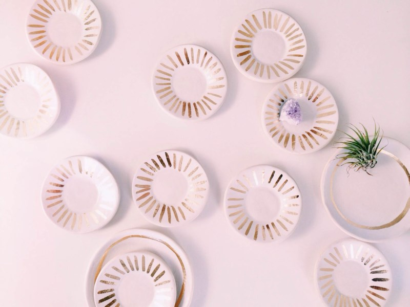 White and Gold Porcelain Ring Dish from The Object Enthusiast
