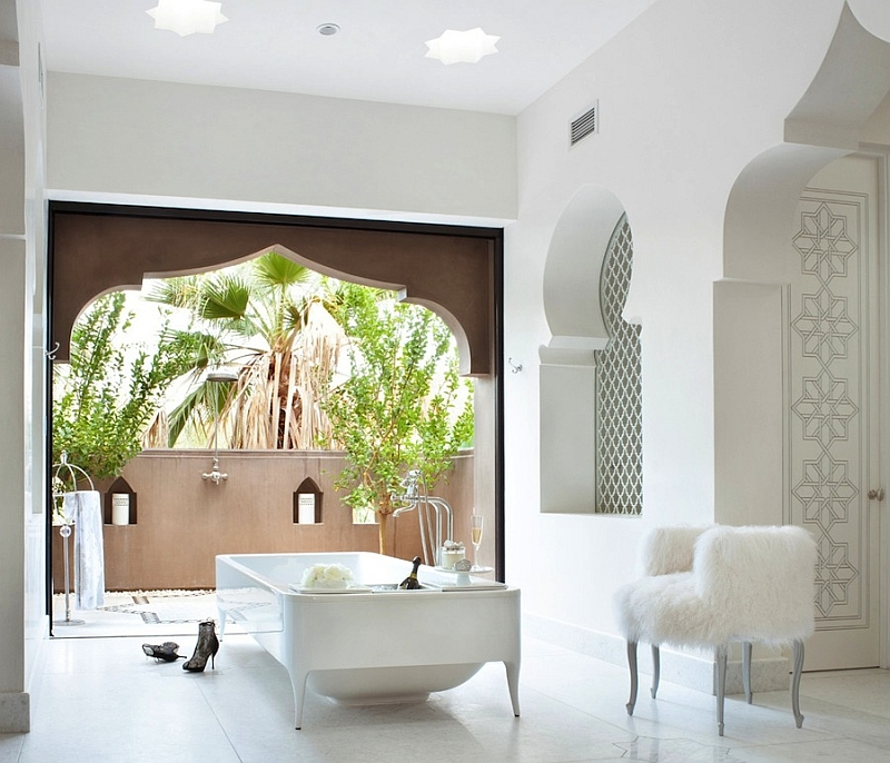 Another look at the opulent bathroom in white