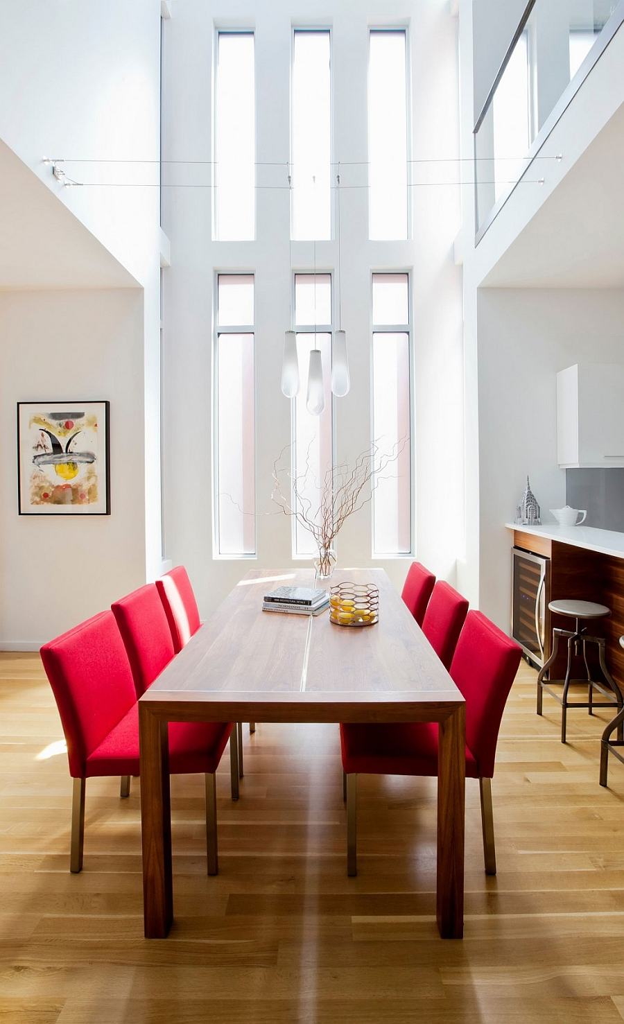 Beautiful dining space combines art-deco style with a more contemporary appeal