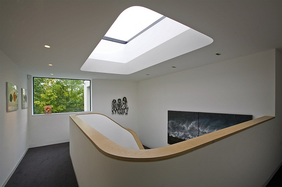 Fascinating use of skylight to usher in ample ventilation and symmetry